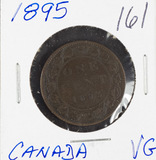 1895 - CANADIAN LARGE CENT - VG