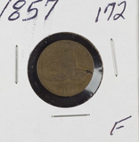 1857 - FLYING EAGLE CENT - F