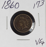 1860 - INDIAN HEAD CENT - VF+