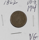 1862 - INDIAN HEAD CENT - VG+