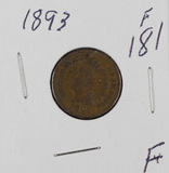 1893 - INDIAN HEAD CENT - F