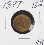 1897 - INDIAN HEAD CENT - AU