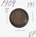 1909-S  LINCOLN CENT - VF
