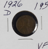 1926-D LINCOLN CENT - VF