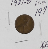 1931-D LINCOLN CENT -XF