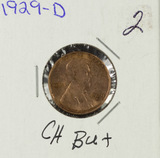 1929-D LINCOLN CENT - CH BU