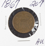 1867 - TWO CENT PIECE - AU