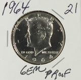 1964 - PROOF KENNEDY HALF DOLLAR
