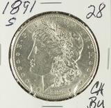 1891-S MORGAN DOLLAR - CH BU