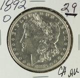 1892-O MORGAN DOLLAR - CH AU