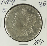 1904-S MORGAN DOLLAR - XF+