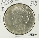 1927-D PEACE DOLLAR - AU