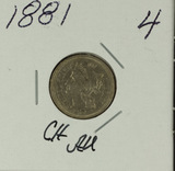 1881 - THREE CENT PIECE - AU