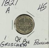 1821-A PRUSSIA - 1 GROSCHEN - BU
