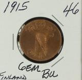 1915 - FINLAND 5 PENNIA - BU