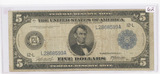 SERIES OF 1914 - $5 FEDERAL RESERVE NOTE