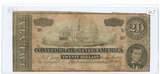 1864 - $20 CONFEDERATE STATES BILL