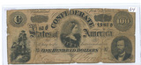 1864 $100 CONFEDERATE STATES BILL