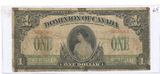 SERIES OF 1917 $1 DOMINION OF CANADA BILL