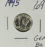 1945 - MERCURY DIME - BU
