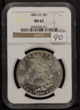 1883-CC NGC MS63 MORGAN DOLLAR