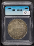 1889 - ICG MS65 MORGAN DOLLAR