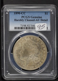 1890-CC PCGS GENUINE MORGAN DOLLAR