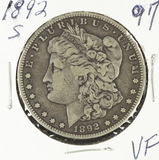 1892-S MORGAN DOLLAR - VF