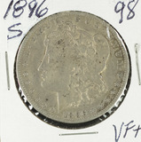 1896-S MORGAN DOLLAR  - VF+