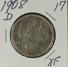 1908- D BARBER HALF DOLLAR - XF