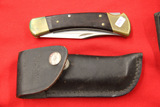 Buck 110-7 Folding Knife with Leather Case