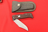 Craftsman Lock Blade Skinner USA with Leather