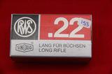 1 Box of 50, RWS 22 LR