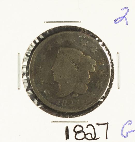 1827 - MATRON HEAD LARGE CENT - G