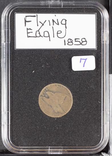1858 - FLYING EAGLE CENT - AG