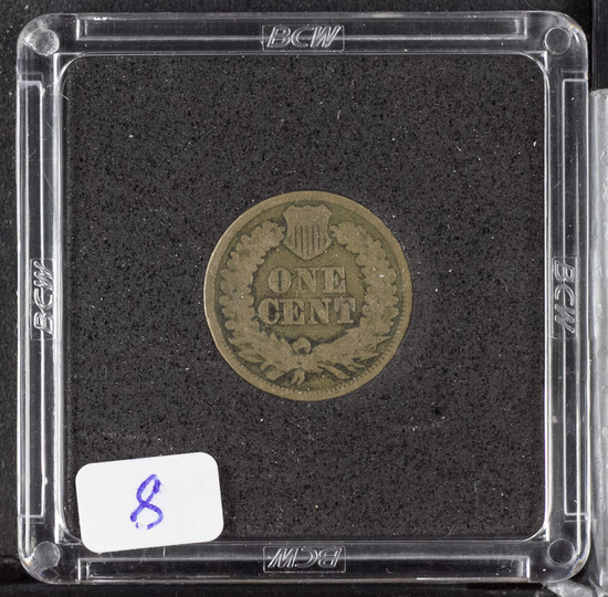 1863 -INDIAN HEAD CENT - VG