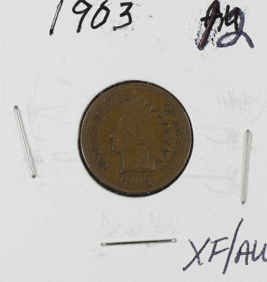 1903 INDIAN HEAD CENT  - XF/AU