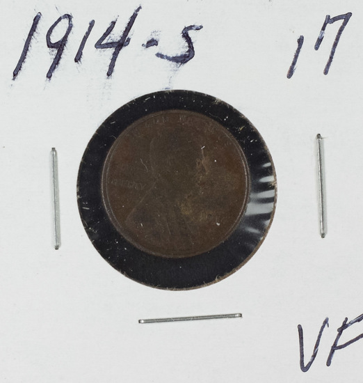 1914-S LINCOLN CENT - VF