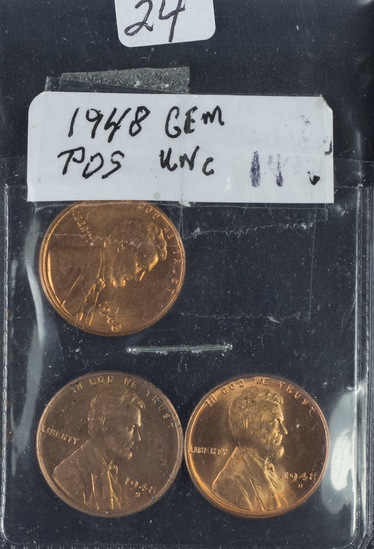 1948  P-D-S LINCOLN CENTS