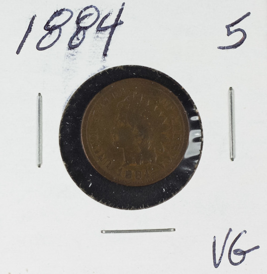 1884 INDIAN HEAD CENT - VG