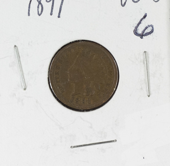 1891 INDIAN HEAD CENT - VG