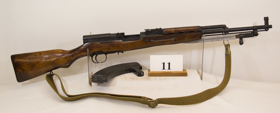 SKS, Model Russian, Semi Auto Rifle, 7.62 mm cal,