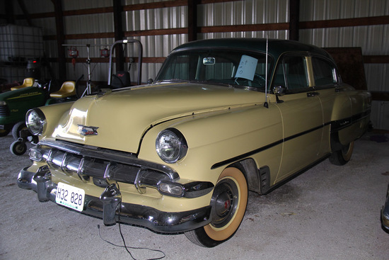 1954 Chevy Belaire Power Glide, Mileage 21,408,