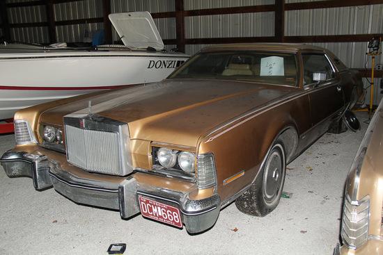 1975 Lincoln Continental IV, 2 door, Mileage