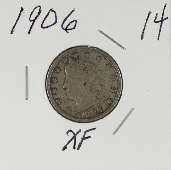 "1906 - LIBERTY HEAD ""V"" NICKEL - XF"