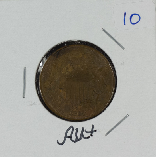 1868 - TWO CENT PIECE - AU+