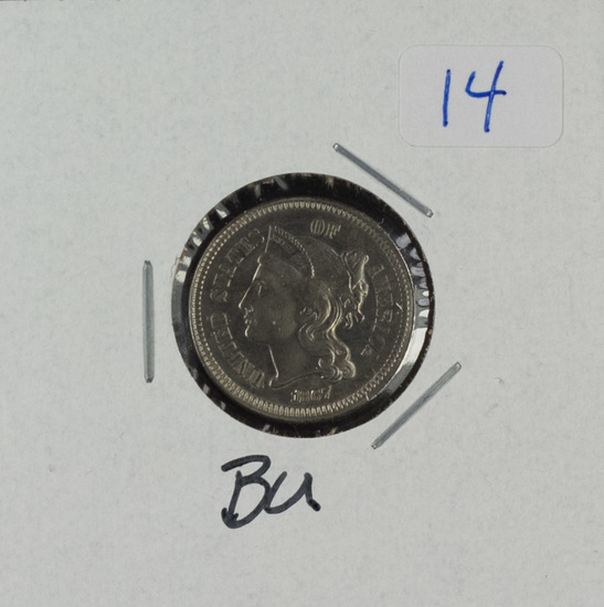 1867 - THREE CENT - BU