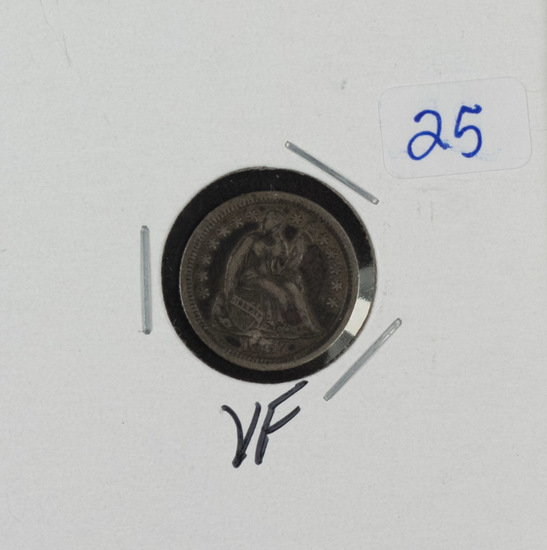 1857 - HALF DIME - VF