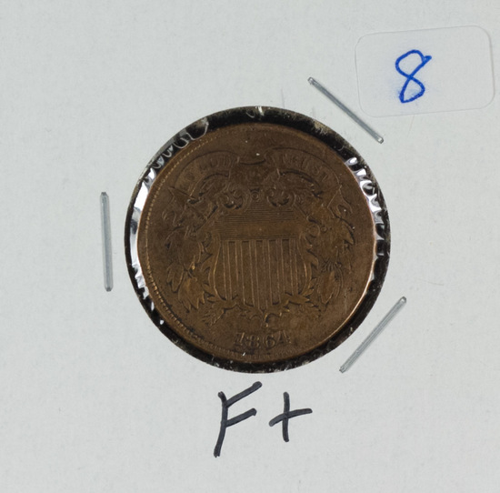 1864 - TWO CENT PIECE - F+