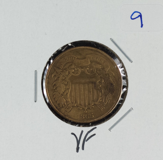 1865 - TWO CENT PIECE - VF
